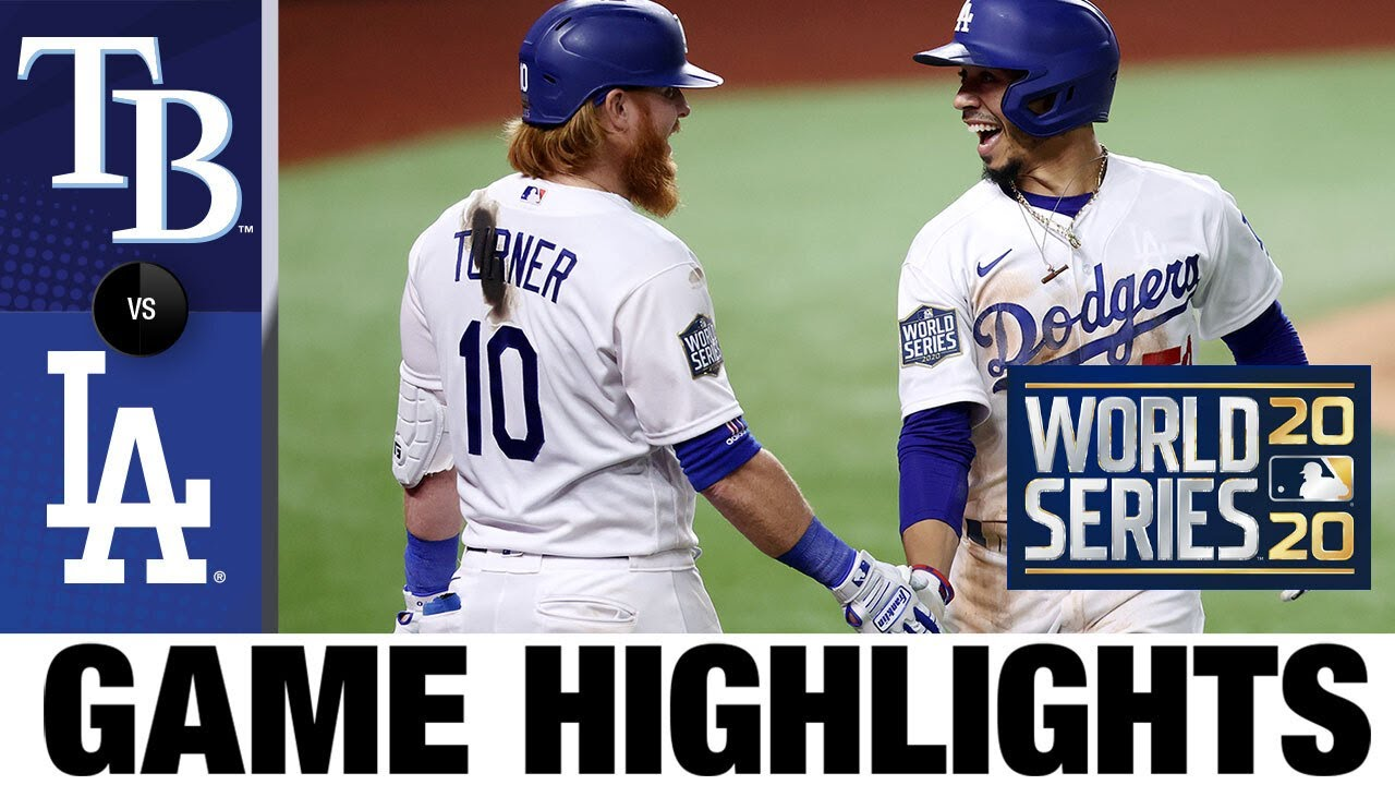 Betts Bellinger Kershaw Lead Dodgers To World Series Game 1 Win Rays Dodgers Game 1 Highlights Youtube