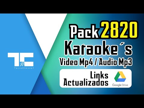 Pack 2820 Karaokes mp4 - Links actualizados Google Drive
