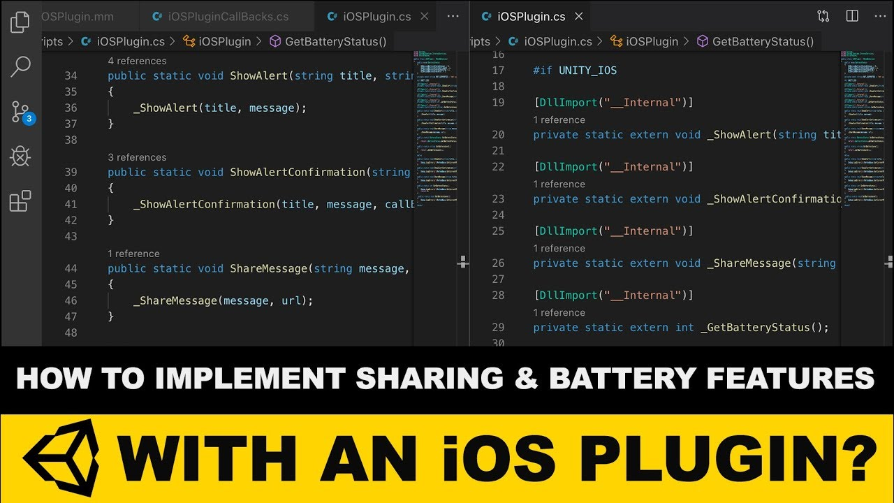 Unity3d iOS Plugins - Unity3d To iOS Bridge With Sharing and Battery  information features