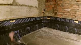как сделать бетонный пол в подвале
