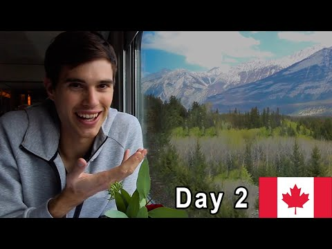 Crossing Canada By Train 🇨🇦DAY 2: The Rocky Mountains  (VIA RAIL