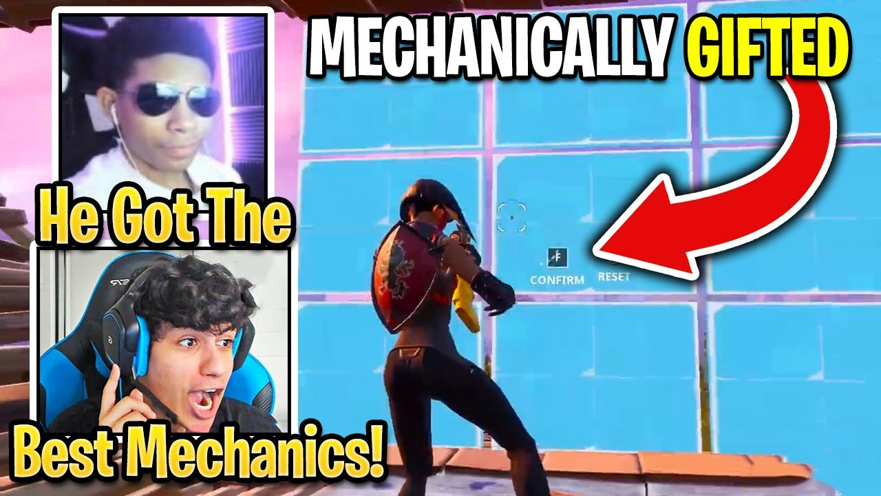 Unknown & Ronaldo Reacts To This Mechanically SKILLED Player In Ninja Battles (Fortnite Season 4)