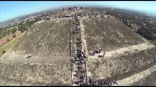 Teotihuacán México DRONE - GoPro + DJI Phantom
