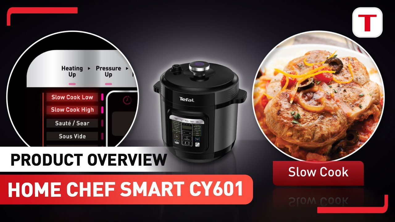 Tefal Home Chef Smart Multicooker Cy601 Versatility Video Youtube