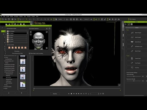iClone Character Creator Tutorial - Advanced Facial Modification: Vampire