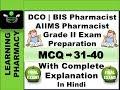 MCQ 31-40 | DCO | AIIMS Pharmacist Grade II | BIS Pharmacist Exam Preperation | In Hindi