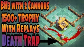 BH3 base with 2 cannons|BH3 Anti Boxer Giant Base|Best BH3 Defensive Base| With Replays