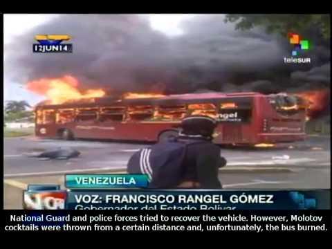 Venezuela: Public transport unit attacked in the state of Bolívar