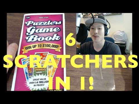 WOW 7 GAMES IN 1 SCRATCHER Puzzlers Game Book $20 Kansas Lottery Scratcher