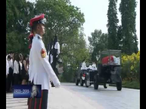 Auld Lang Syne - Lee Kuan Yew state funeral