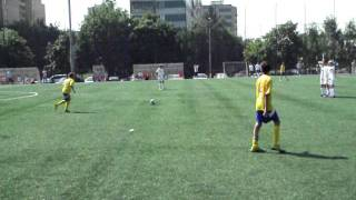 Roberto Carlos? No, it's Roman Gildeev, Moscow, 13 yo! Football, free kick