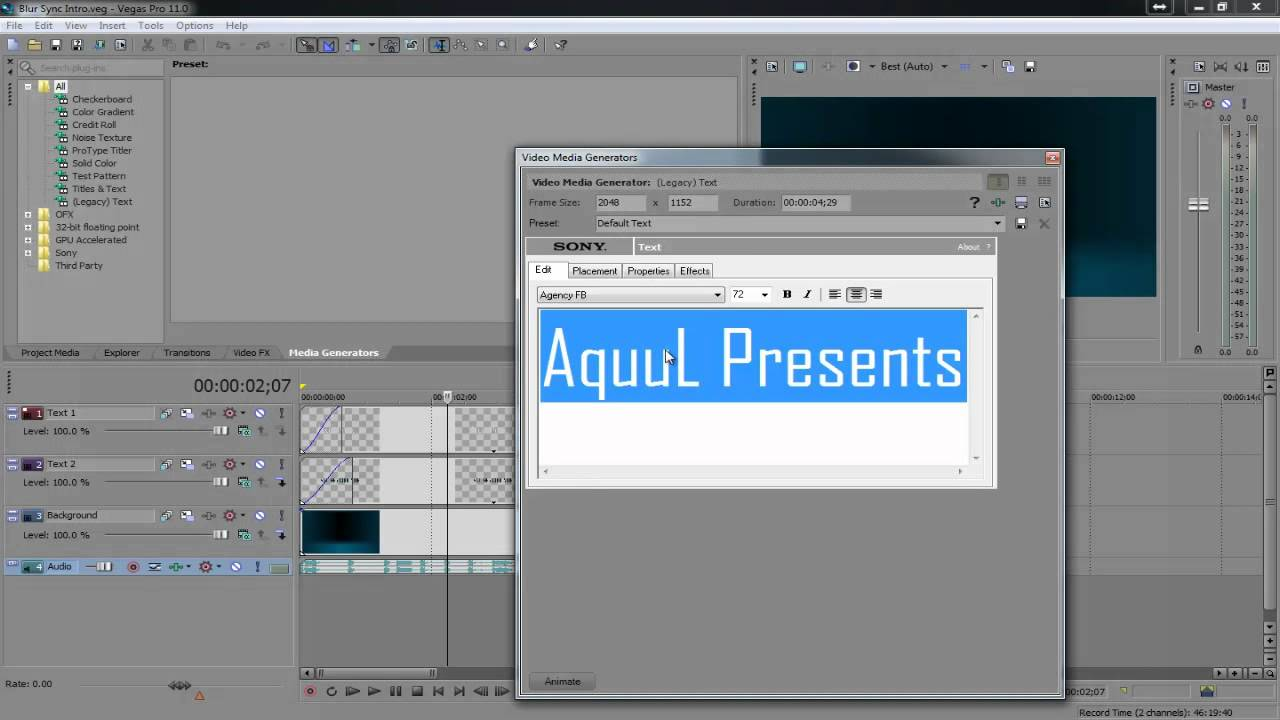 How To Edit A Template In Sony Vegas Youtube