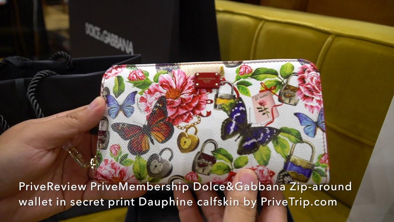 e3f64d5519 PriveReview PriveMembership Dolce&Gabbana Zip around wallet in secret print  Dauphine calfskin by Pri
