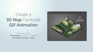 How to create a rotating 3d map GIF animation in Photoshop