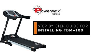 Powermax Fitness - TDM-100 How to install - [DISCONTINUED - 2017]
