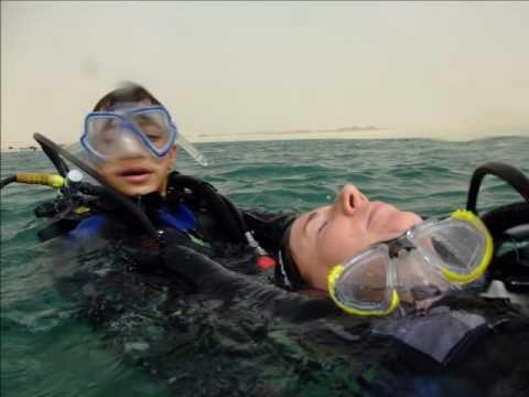 Beach Rescue training for Sports Diver (SO1), Bahraini Islan