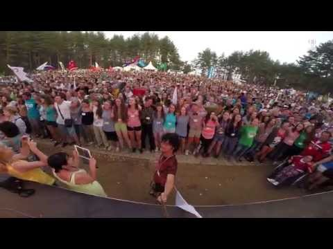 Russian National Anthem at Seliger Lake, Russia