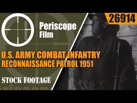 U.S. ARMY COMBAT INFANTRY RECONNAISSANCE PATROL 1951 TRAINING FILM  26914