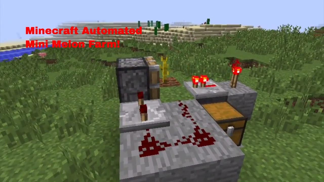 Minecraft Melon Mini Automated Melon Farm Tutorial Youtube