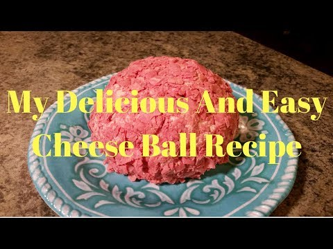 My Delicious And Easy Cheese Ball Recipe