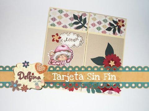TARJETA SIN FIN |Tutorial | Delfina Art &...