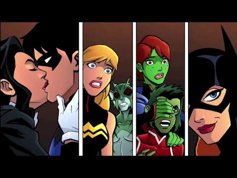 who is nightwing dating in young justice
