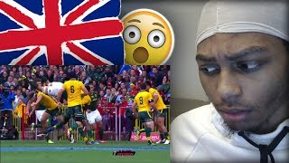 AMERICAN FIRST REACTION TO RUGBY | BEST STEPS, HITS, TRIES, FENDS & MORE! (2019)