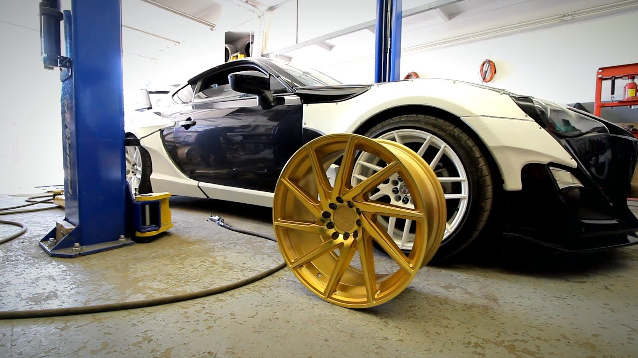Gold Wheels Vinyl Wrapping P 1 Youtube
