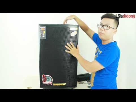Video giới thiệu trực tiếp âm bass và công suất chi tiết của loa Temeisheng GD 15-22