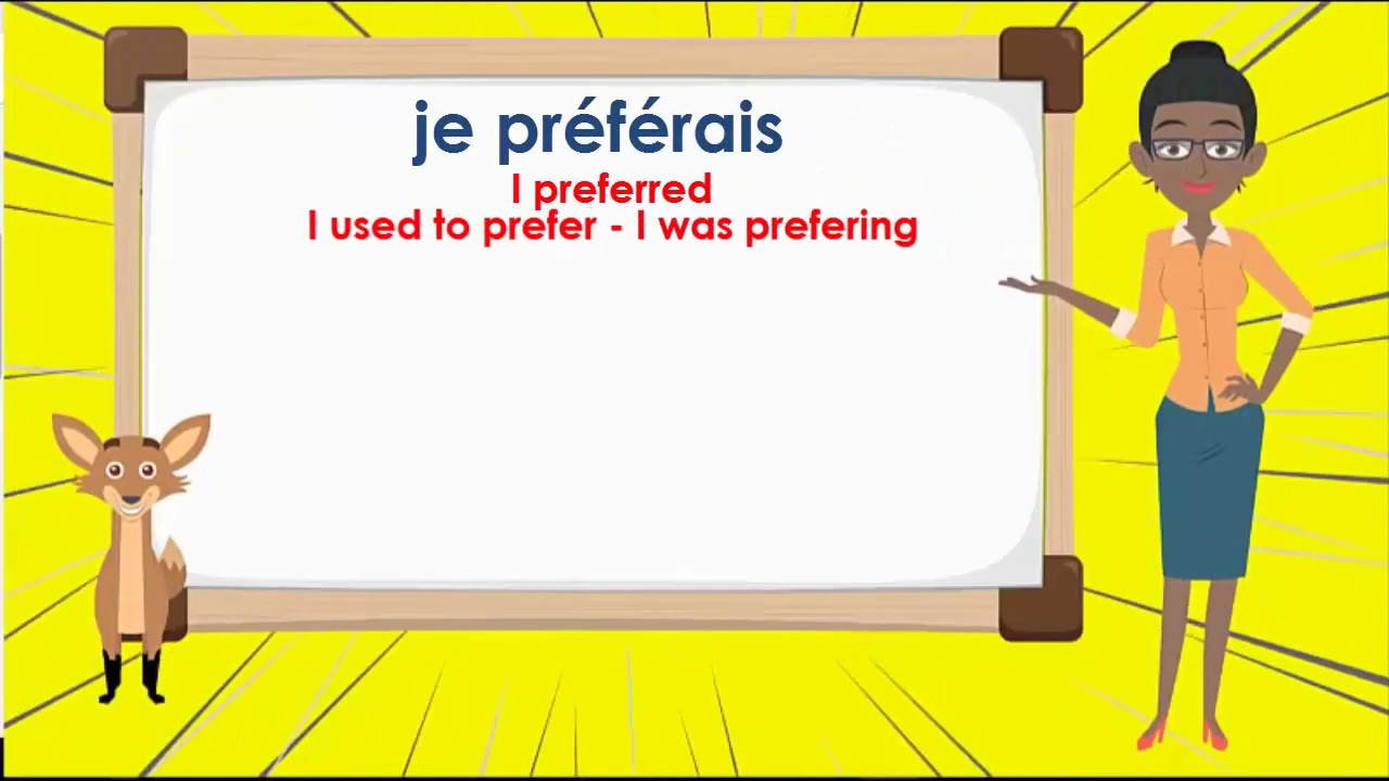 Le Verbe Vouloir Imparfait To Want Imperfect Tense French Conjugation Youtube