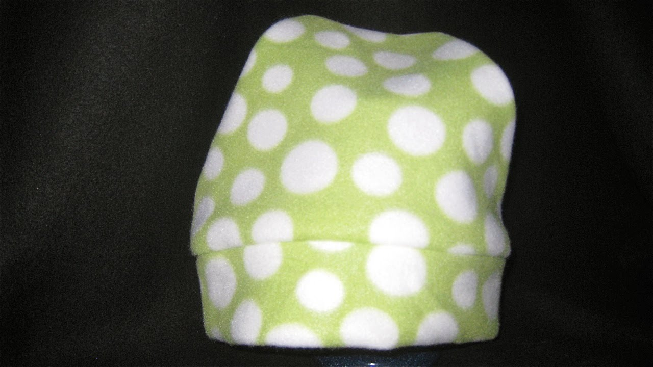 93f9ad513bf How to sew a Fleece Hat without a pattern DIY - YouTube