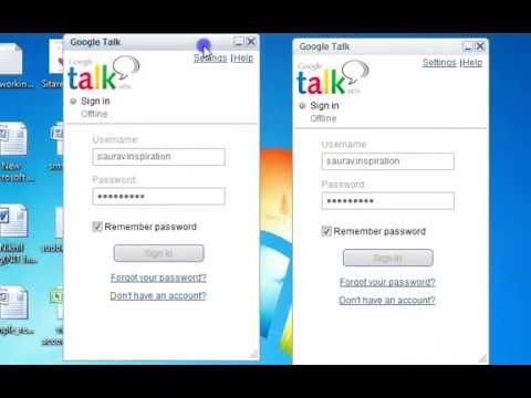 how to Open Multiple Google Talk Account