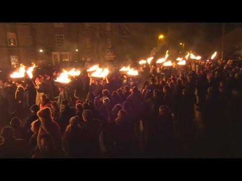 Allendale New Yaers Eve 2015 Tar Barrel Ceremony