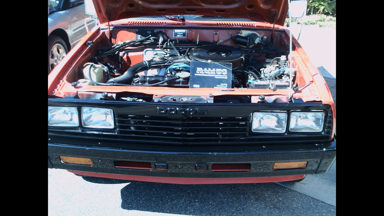 1986 dodge ram 50 truck red ocoee110312 [ 1280 x 720 Pixel ]