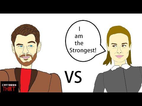 Chris Hemsworth vs Brie Larson Internview or Thor vs Captain Marvel Parody