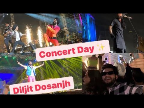 #Diljit Dosanjh entry stage in Gurgaon lesser valley Ground