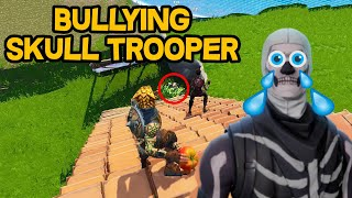[#16] Troll / Bullying a Skull Trooper with Tomatoes  - Fortnite ...
