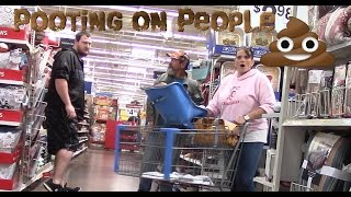 Pooting on People! Nasty Fart Prank! (fart sounds) Funny Videos!