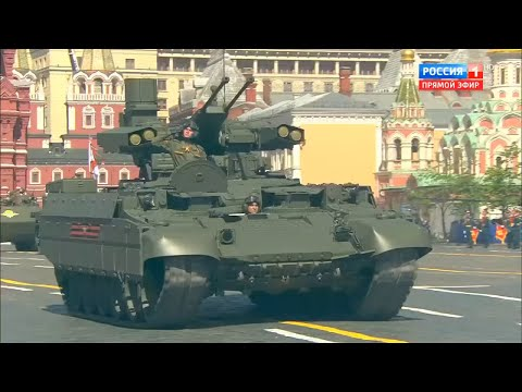 Russia 1 TV - Victory Day Parade 2018 : Full Army Military Assets Segment [720p]