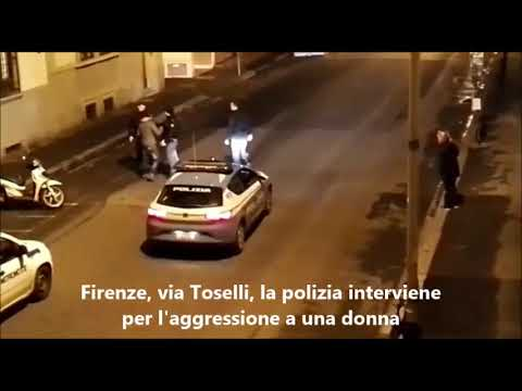 Firenze: Poliziotto da un calcio all'arrestato che stava molestando una donna. Il video consegnato a