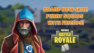 New Wizard Skin!- Funniest Squad with friends (Arabic) - Fortnite Battle Royale