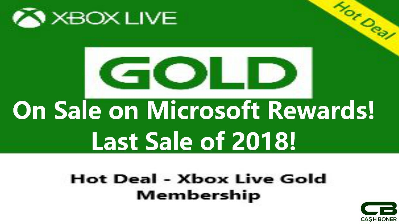 Xbox Live Gold Sale on Microsoft Rewards! Last Sale of 2018! Is it a Good  Deal?