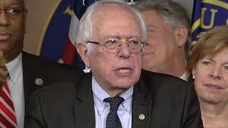 Bernie Sanders speaks on Capitol Hill