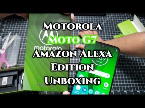 Motorola Moto G7 Exclusive Amazon Alexa Edition Unboxing