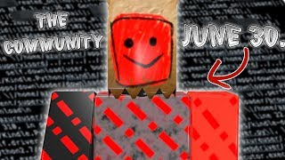 The C0MMUNITY IS COMING ROBLOX