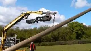 Wind Turbine Pole Installation With HSL Utilities Ltd