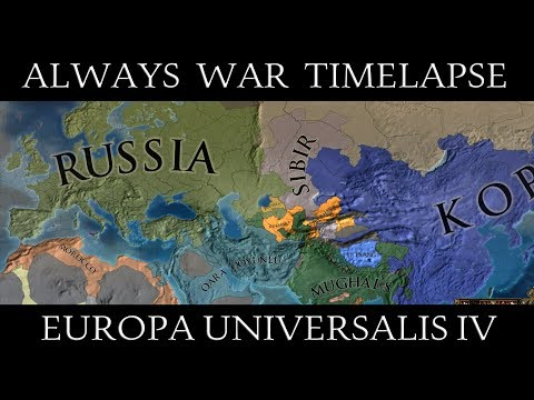 EU4: Always War Mod Timelapse (With Global Tech)