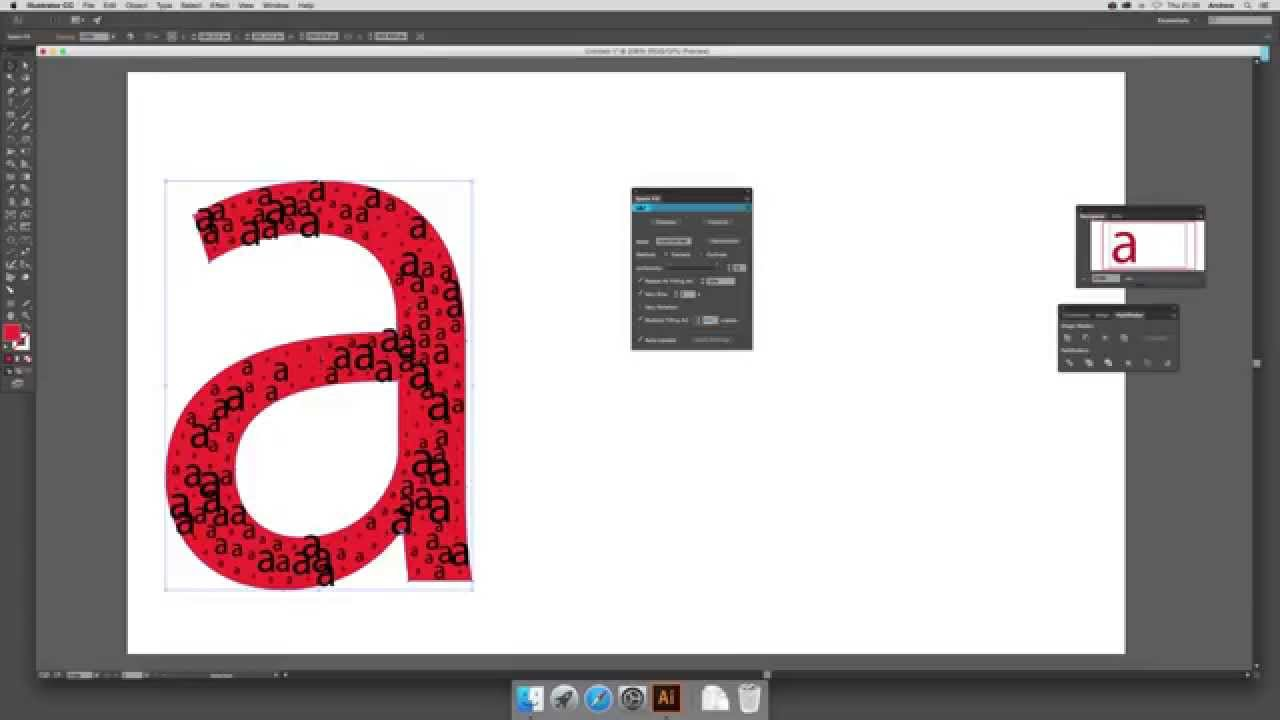 ColliderScribe 2 plugin and space fill with letters in Illustrator CC 2015  tutorial