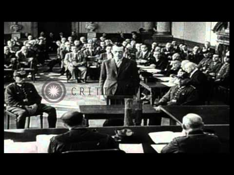 Conspirators of July 20 Plot to assassinate Adolf Hitler appears at People's Cour...HD Stock Footage