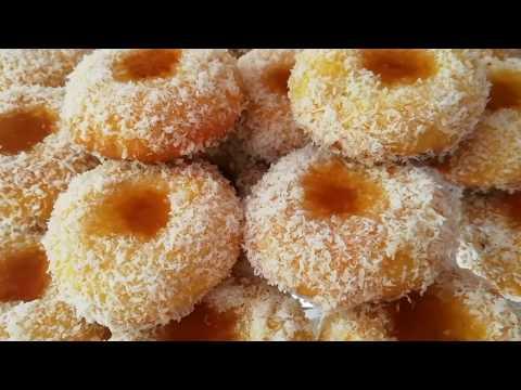 gâteaux-à-la-noix-de-coco-et-confiture-facile-et-😋-recette-cuisine-marocaine